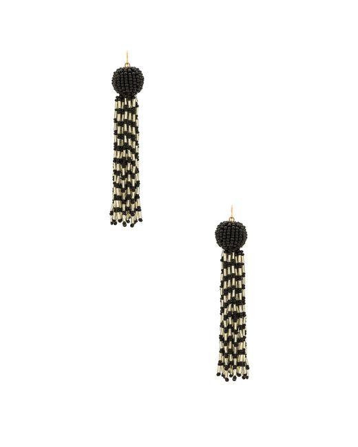 Vanessa Mooney - Metallic The Antoinette Earrings In Black. - Lyst