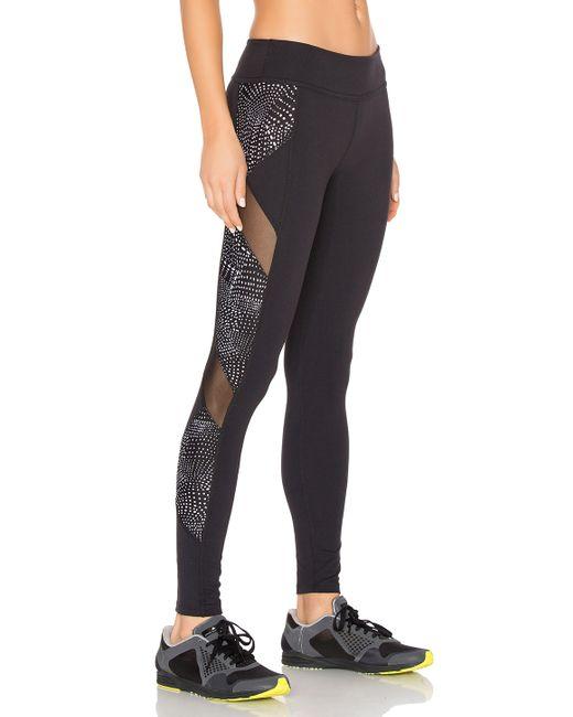 Beyond Yoga Lux Print Spliced & Diced Legging In Blue