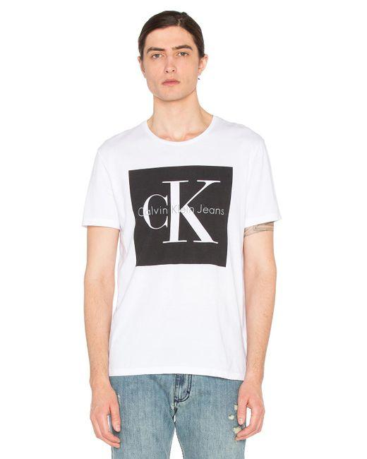 Calvin Klein | White Reissue Box Logo T Shirt for Men | Lyst