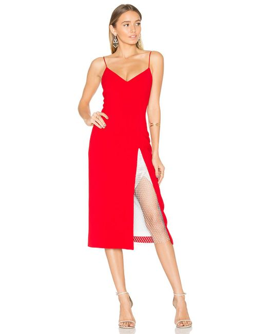 Christopher esber Ribeiro Crystal Slit Dress in Red