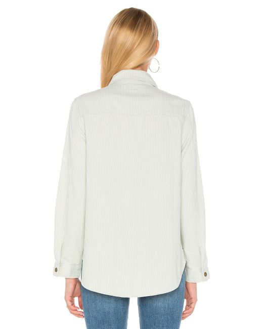The Great The Shirt Jacket In White Lyst