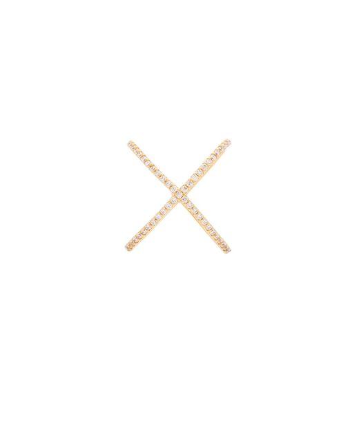 Joolz by Martha Calvo | Metallic X Ring | Lyst