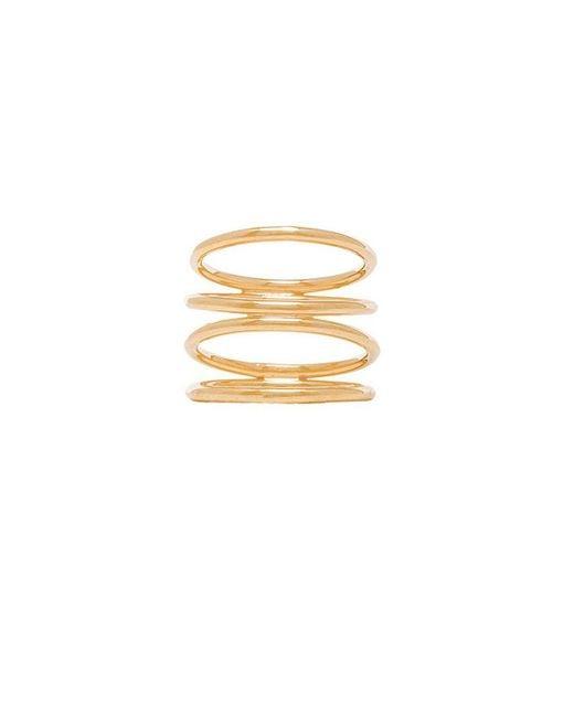 Joolz by Martha Calvo | Metallic Staircase Ring | Lyst