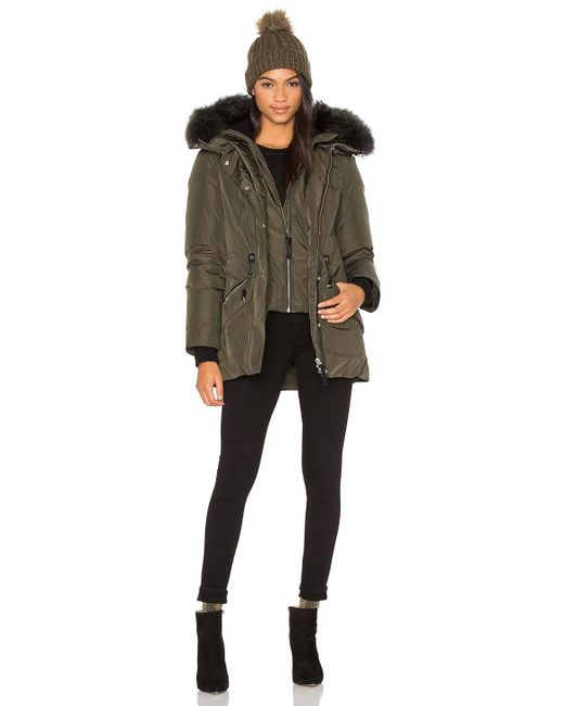 Mackage | Blue Katryn Asiatic Raccoon Fur Coat | Lyst