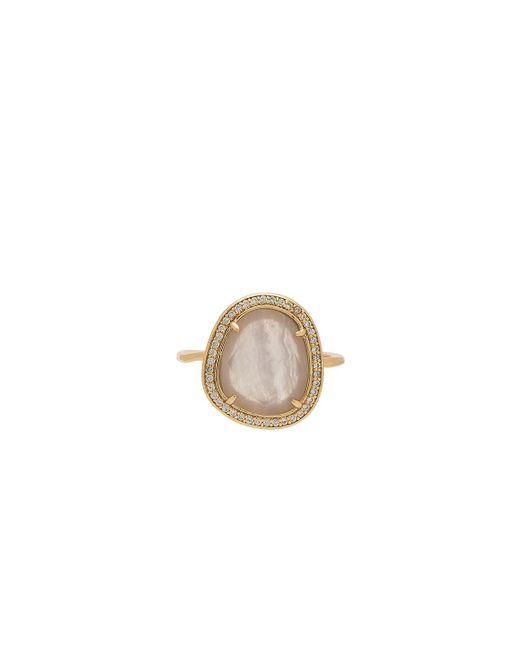 Melanie Auld   Metallic Stone Slice Ring   Lyst