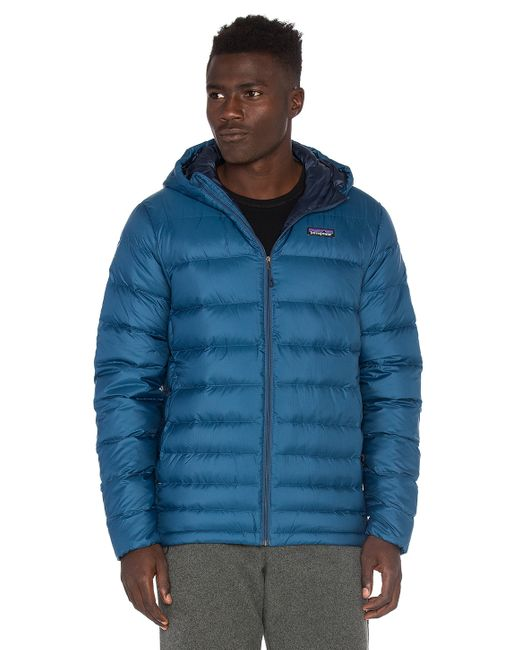 Patagonia Hi Loft Down Sweater Hoody In Blue For Men