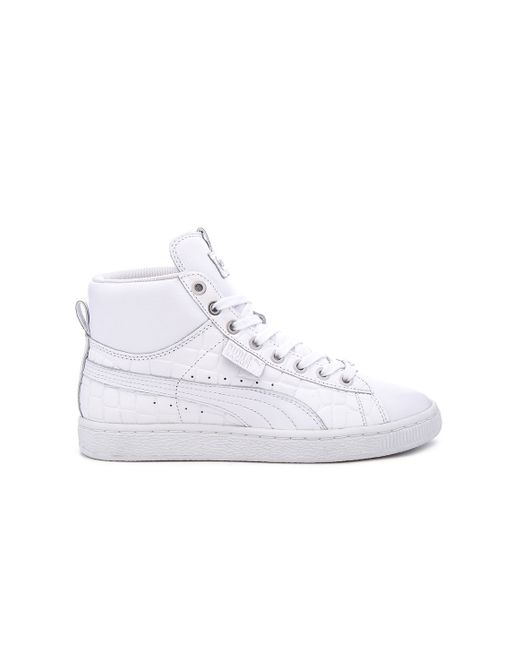 Puma Select Basket Mid Exotic Hi Top In White White