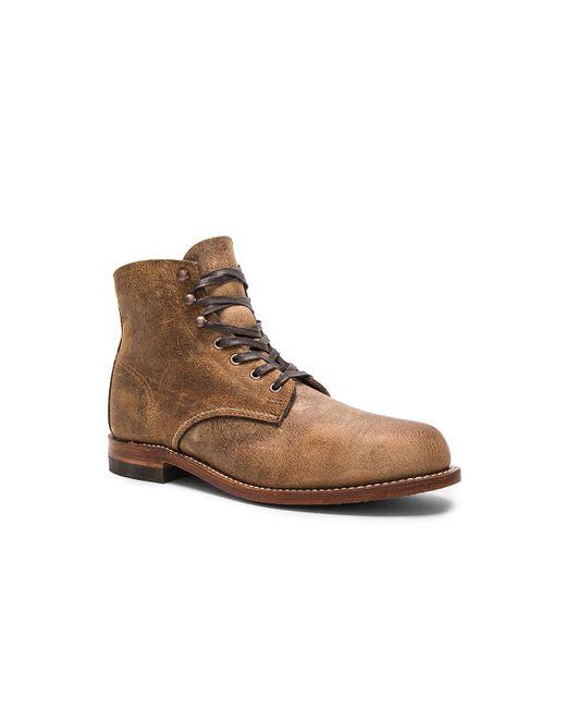 wolverine original 1000 mile boots in brown lyst