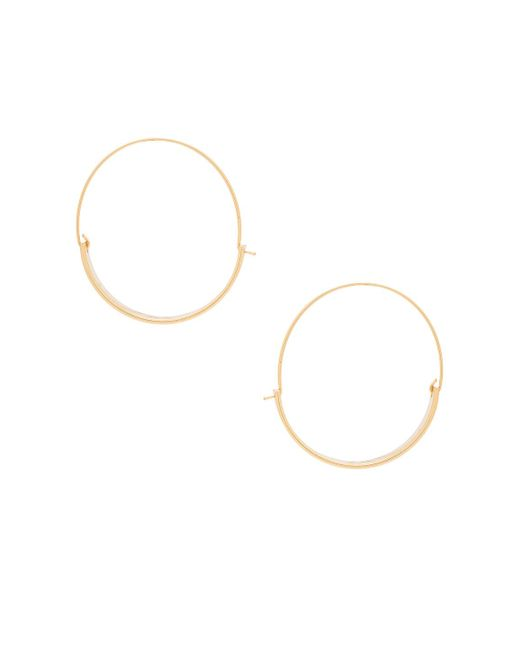 Rebecca Minkoff | Metallic Thick And Thin Hoop Earrings | Lyst