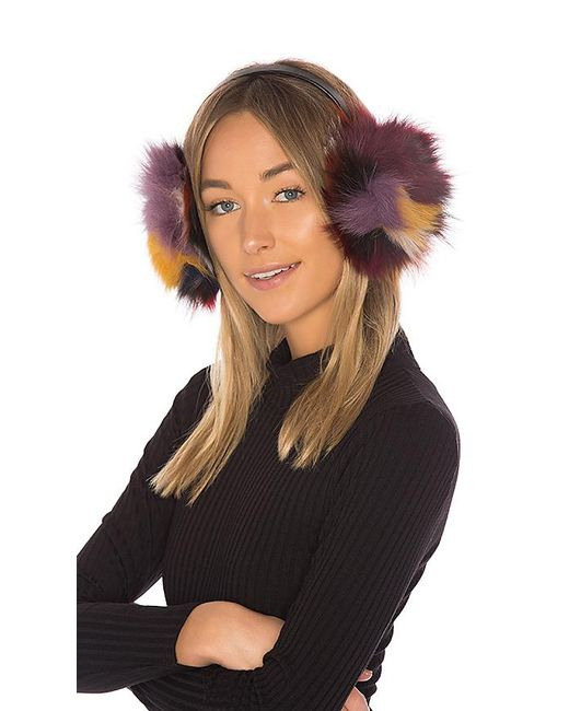 Hat Attack - Multicolor Luxe Earmuff With Fox Fur - Lyst