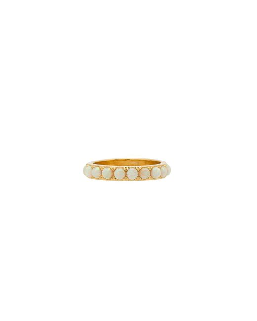 Five And Two | Metallic Isla Stoned Band Ring | Lyst