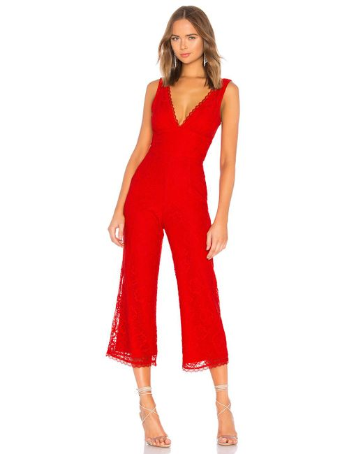 80a5190a10 Lovers + Friends - Red Kenneth Jumpsuit - Lyst ...