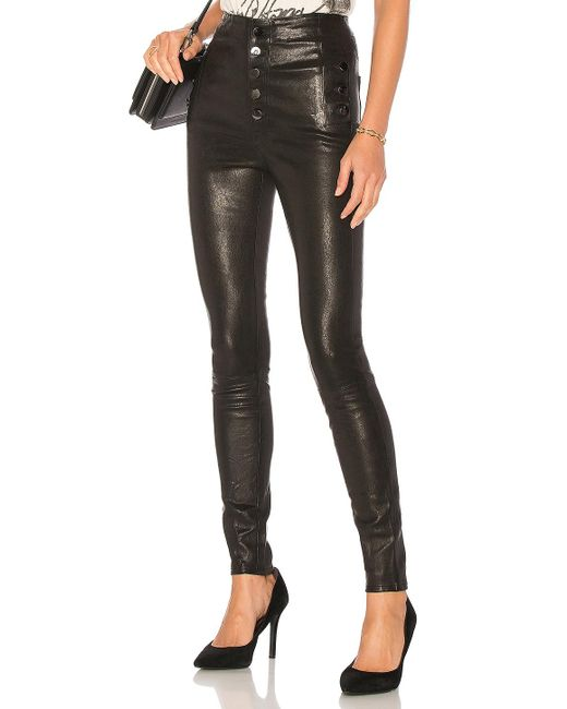 J Brand - Black Natasha Leather Pant - Lyst