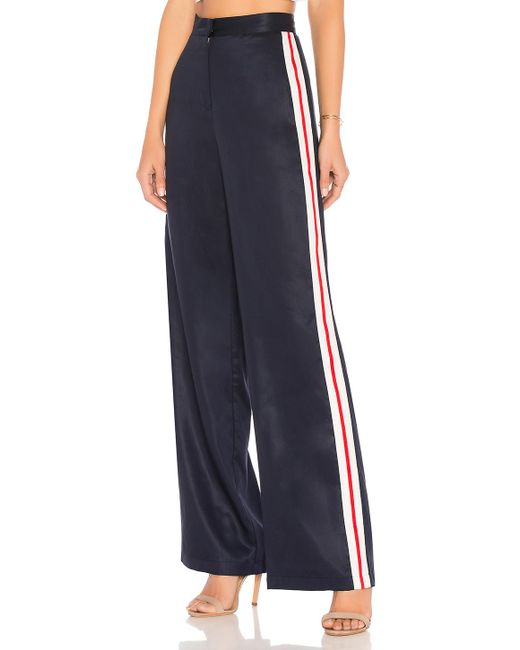 House of Harlow 1960 - Blue X Revolve Wide Leg Track Pants In Navy - Lyst