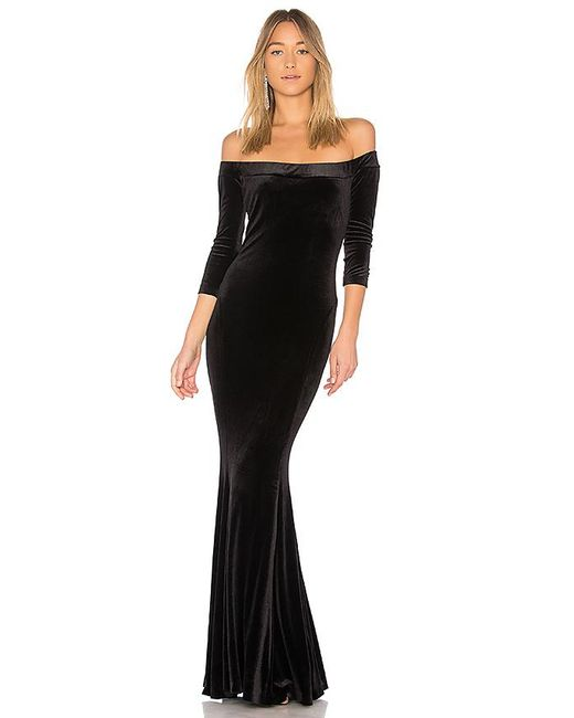 Norma Kamali - Fishtail Gown In Black - Lyst
