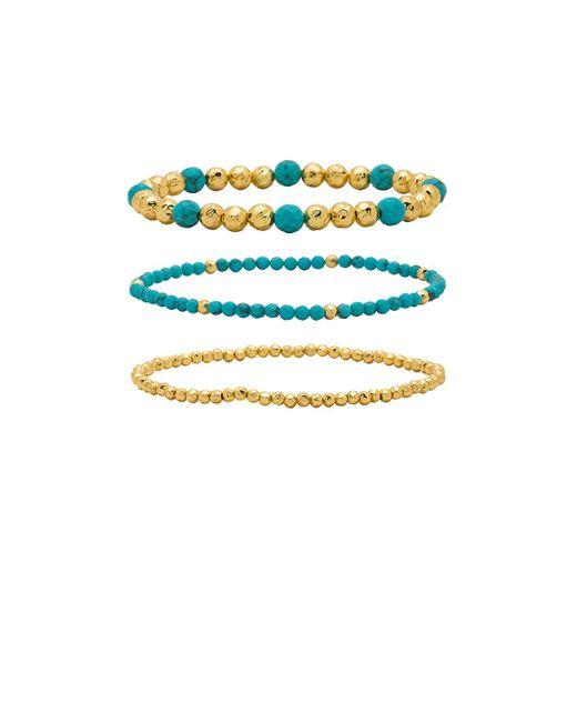 Gorjana - Blue Gypset Bracelet Set In Gold. - Lyst