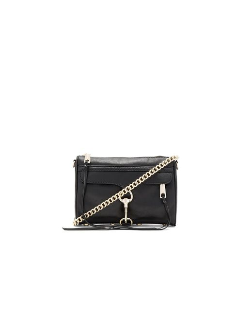 Rebecca Minkoff - Black 'mini Mac' Convertible Crossbody Bag - Lyst