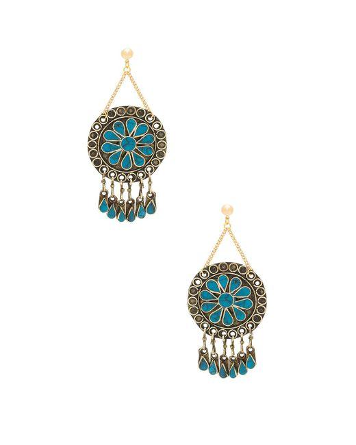 Vanessa Mooney - Multicolor Marisol Statement Earrings In Metallic Gold. - Lyst