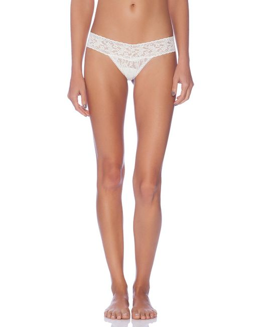 Hanky Panky - Low Rise Thong In White. - Lyst
