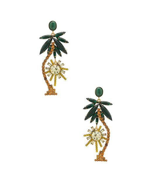 Elizabeth Cole   Metallic Palm Tree Earrings   Lyst