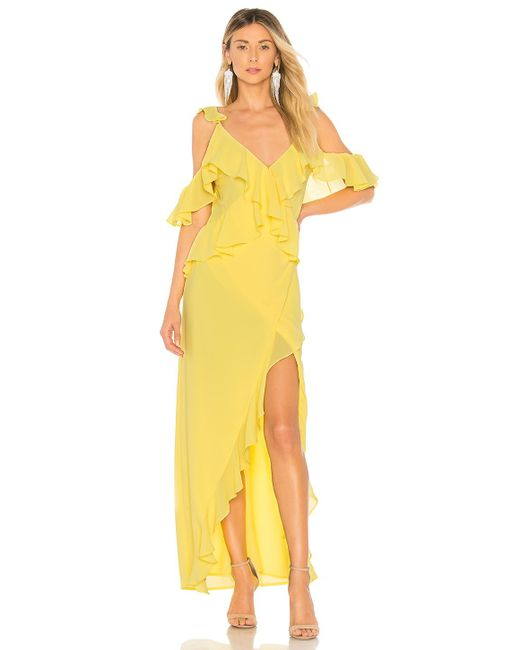 Michael Costello - Yellow X Revolve Collette Gown - Lyst