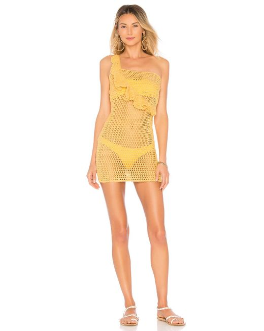 Ále By Alessandra - Yellow X Revolve Analu Mini Dress - Lyst