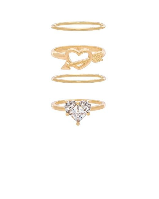 8 Other Reasons - Metallic Tainted Love Ring Set - Lyst