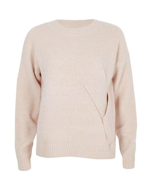 River Island | Light Pink Crossover Wrap Side Knit Jumper Light Pink Crossover Wrap Side Knit Jumper | Lyst