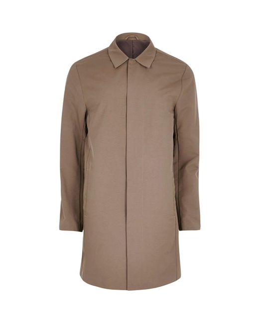 River Island   Brown Smart Mac Coat for Men   Lyst
