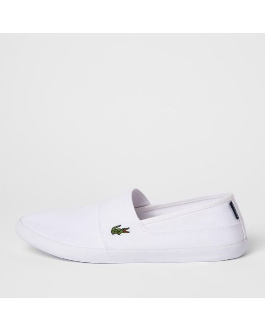 55fd57ab1 Lyst - River Island Lacoste White Slip On Sneakers in White for Men