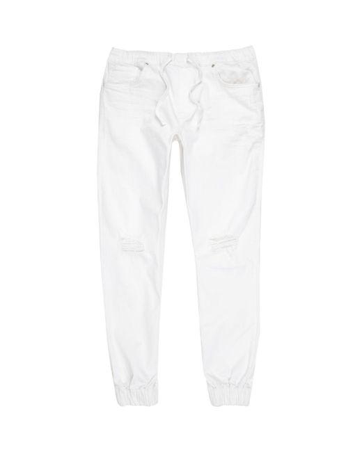 River Island | White Ryan Distressed Jogger Jeans White Ryan Distressed Jogger Jeans for Men | Lyst