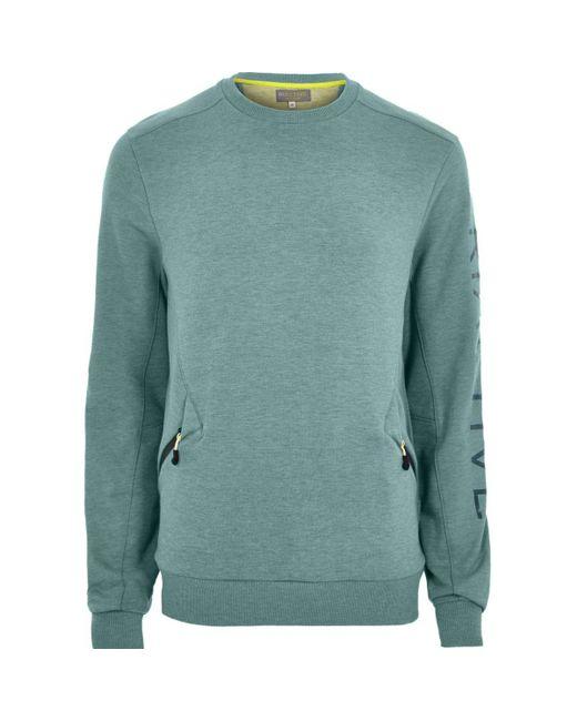 River Island   Green Ri Active Teal Crew Neck Sweatshirt for Men   Lyst