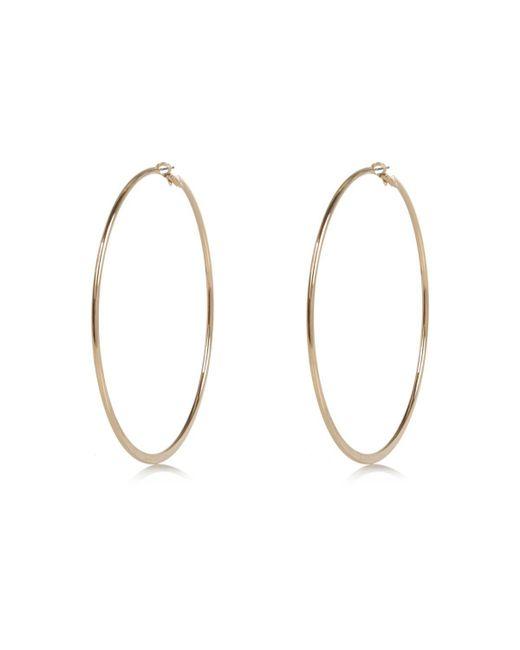 River Island | Metallic Gold Tone Oversized Hoop Earrings | Lyst