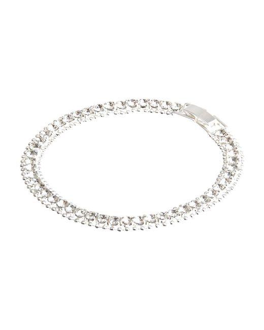 River Island   Metallic Silver Tone Diamante Bracelet   Lyst
