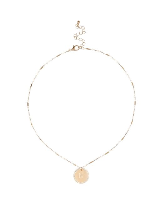 River Island | Metallic Gold Tone R Initial Necklace | Lyst