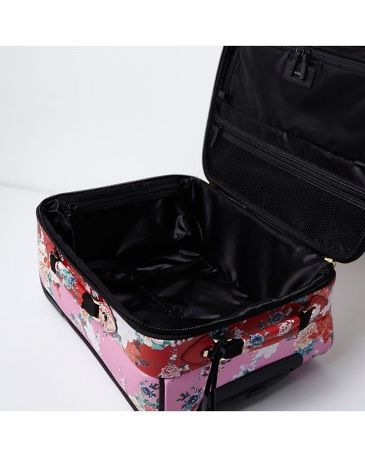 Yellow Floral Cabin Suitcase River Island Size