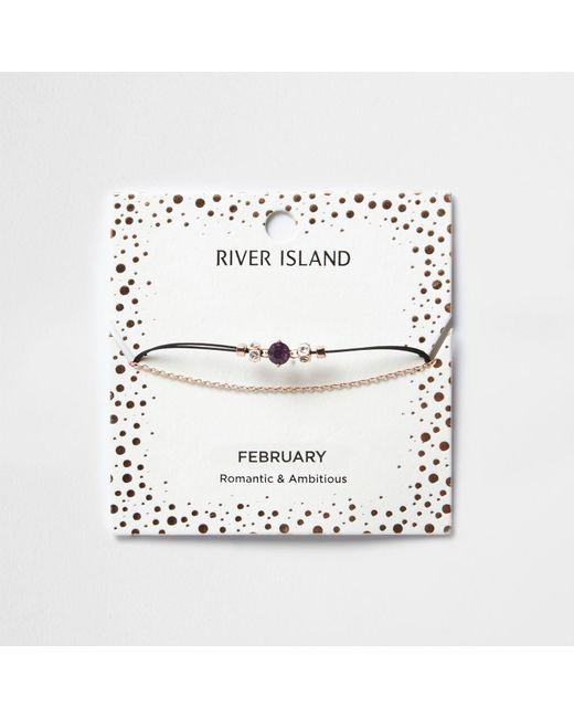 River Island   Purple February Birthstone Chain Bracelet   Lyst
