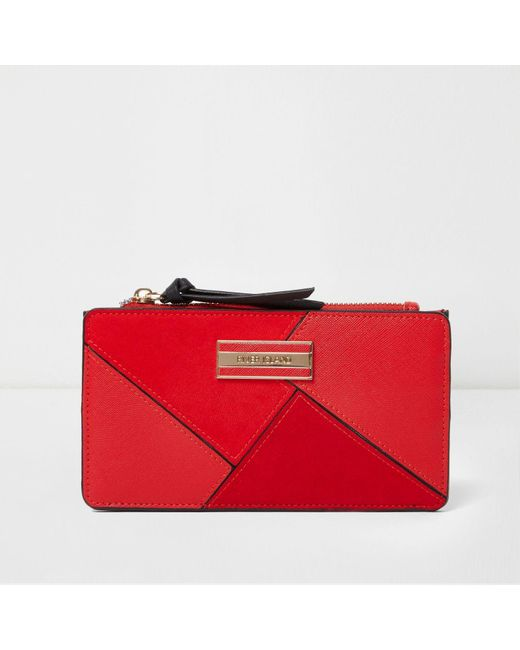 River Island | Red Cutabout Panel Slim Purse | Lyst
