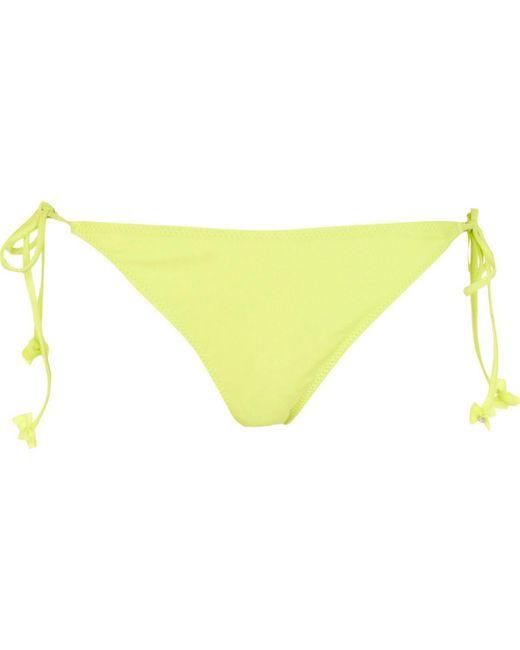River Island   Green Lime Bow Tie Side Bikini Bottoms   Lyst
