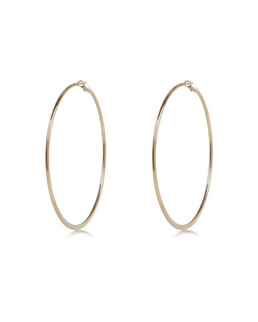 River Island - Metallic Gold Tone Oversized Hoop Earrings - Lyst