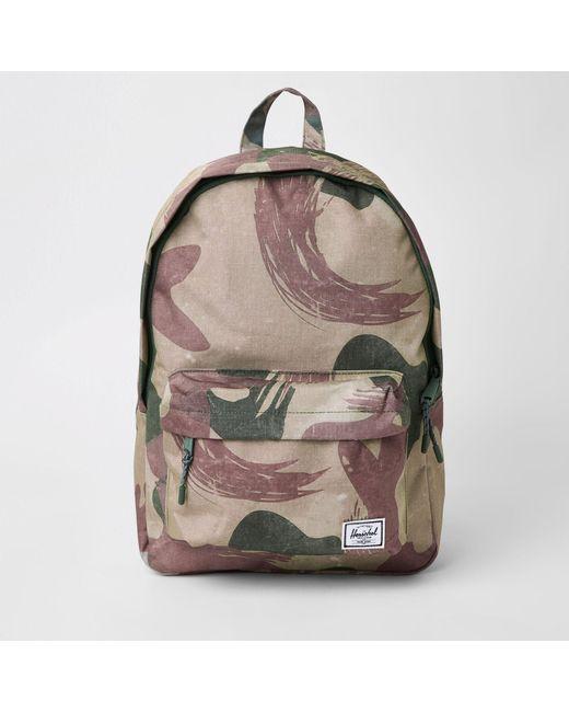 d31797da6d7 Herschel Supply Co. - Green Classic Camo Backpack for Men - Lyst ...