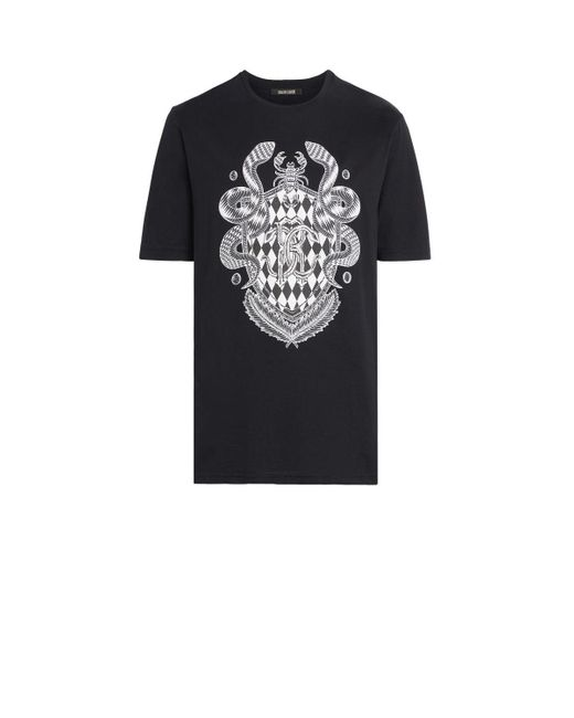 aacc7b58e Lyst - Roberto Cavalli Black Coat Of Arms T-shirt in Black for Men