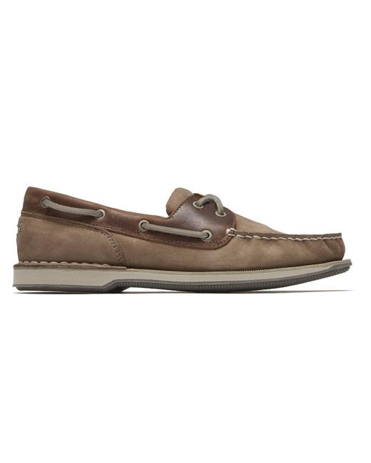 Rockport Brown Perth Slip-on In Navy/dark Tan Leather for men