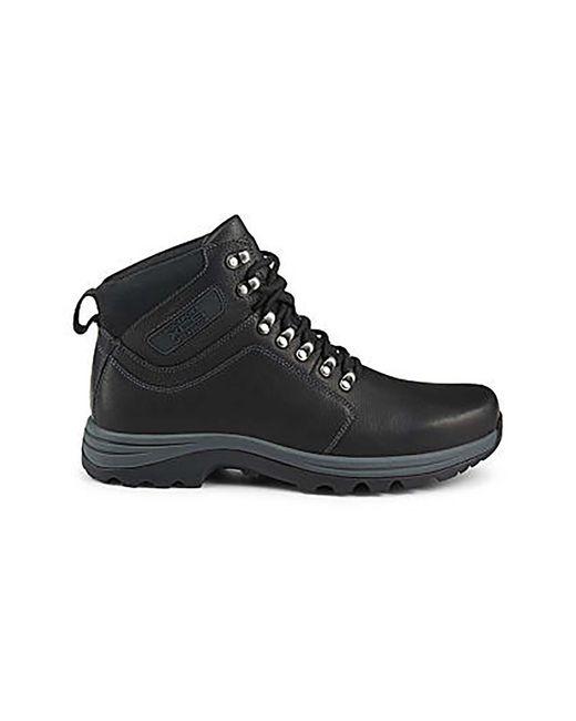 Rockport Bracken Ridge Plain Toe Boot In Black For Men