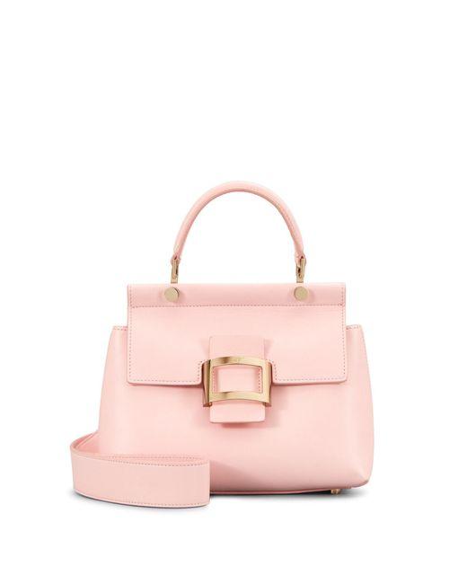 Roger Vivier - Pink Viv' Cabas Mini In Leather - Lyst
