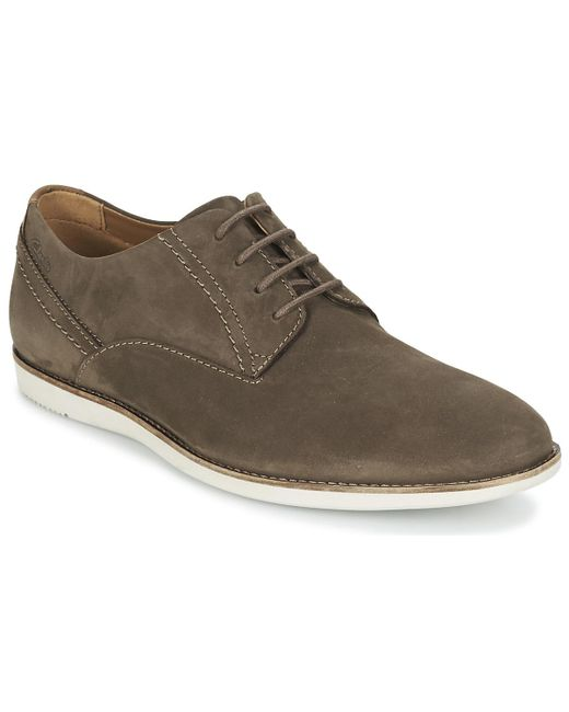 Clarks - Brown Franson Plain Casual Shoes for Men - Lyst