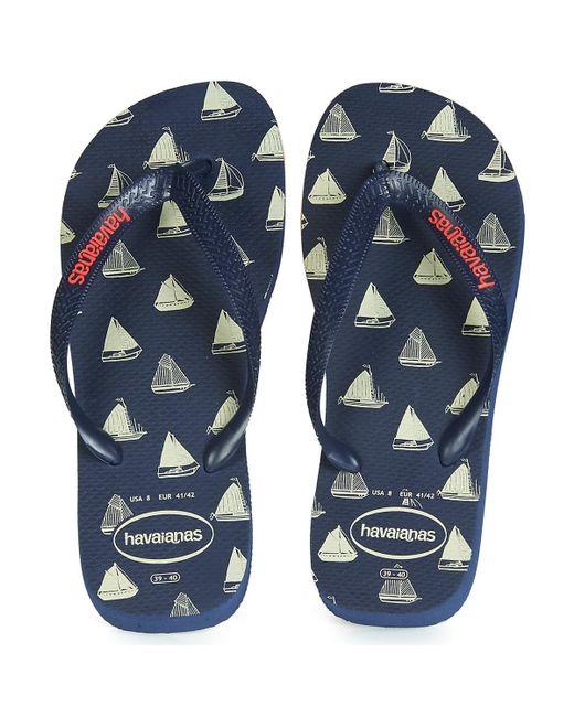 89eb9e11560 ... Havaianas - Blue Top Nautical Flip Flops   Sandals (shoes) for Men -  Lyst ...