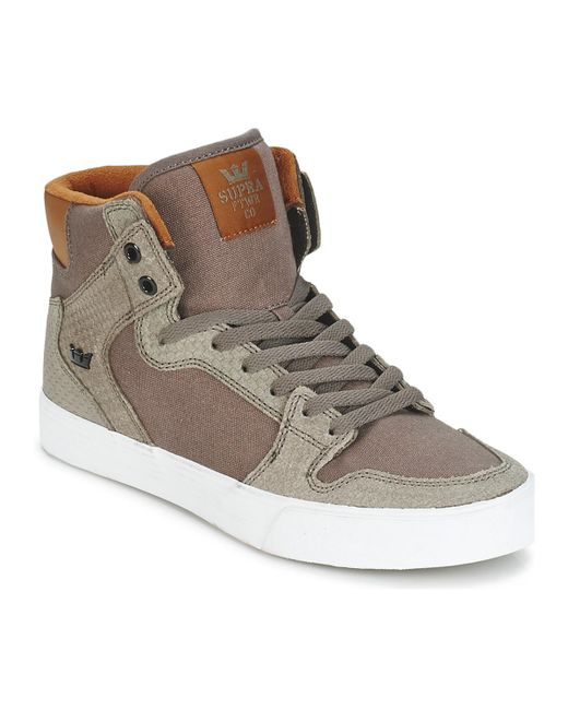 098024de5ace Supra - Brown Vaider Shoes (high-top Trainers) for Men - Lyst ...