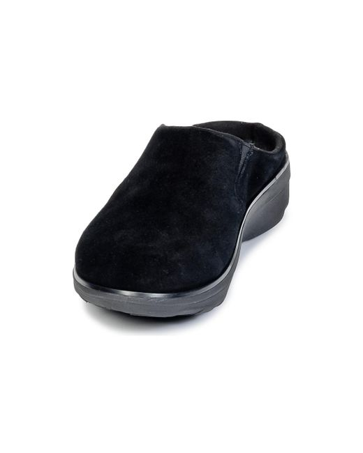 fb6d1312c80 ... Fitflop - Black Loaff Suede Clog Mules   Casual Shoes - Lyst ...