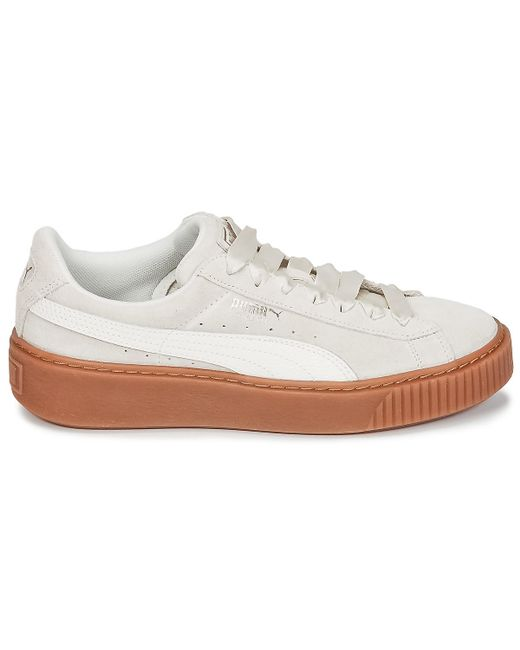 PUMA Suede Platform Bubble W s Shoes (trainers) in White - Save 18 ... bf6b12d9c